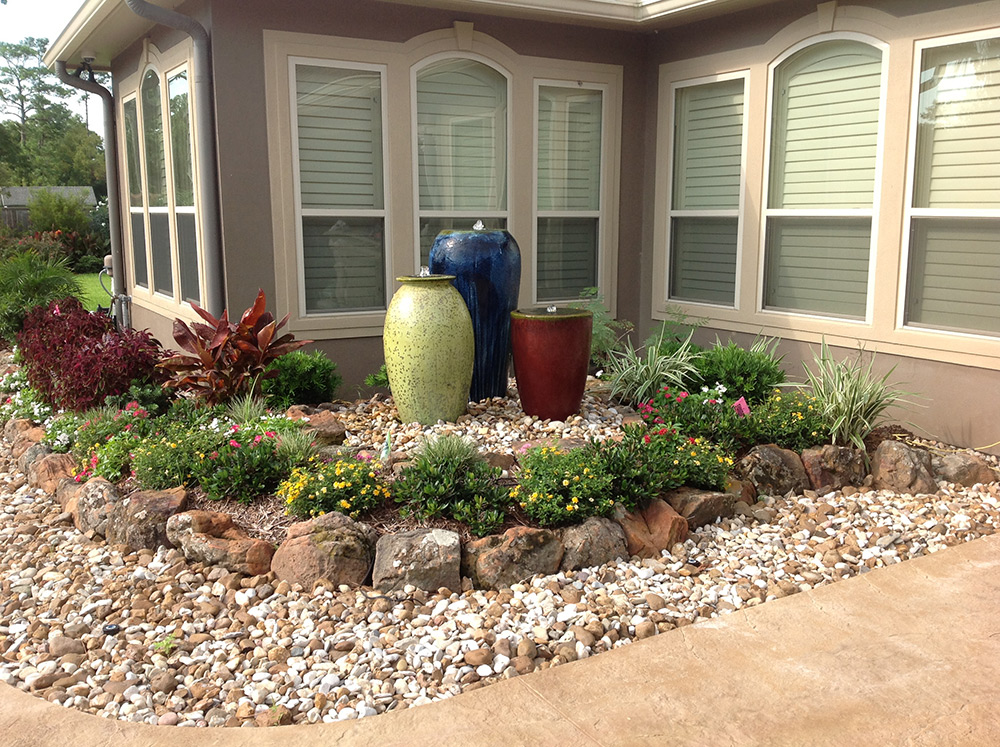 landscaping rocks conroe tx moss rock retainer wall